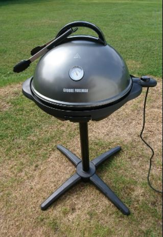 George Foreman Electric BBQ Grill outdoors